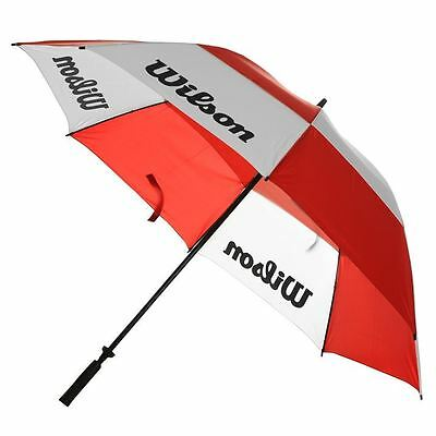Wilson Mens Womens Dual Canopy With Comfortable Non-Slip Handle Golf Umbrella