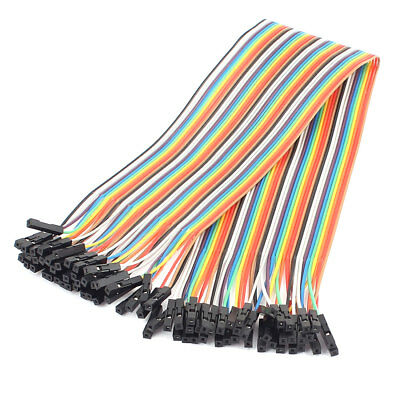 36cm 40 Pin 40 Way F/F Connector IDC Flat Rainbow Ribbon Jumper Cable