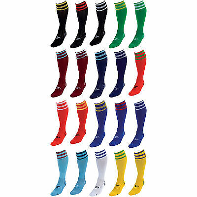 Precision Training 3 Stripe Pro Football Socks Kids/Adults Various Colours rrp£9