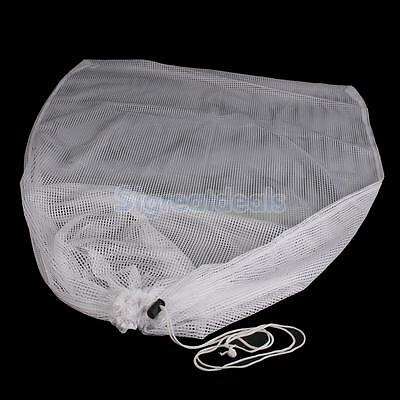 Breathable Mesh Net Clothes Laundry Pouch Large Drawstring Storage Bag Sack