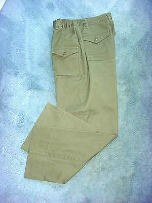 Official BSA Boy Scouts Forest Green Twill Uniform Trousers Pants Size 34 Husky