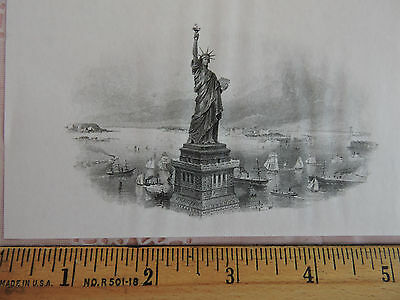 1900s ENGRAVED Patriotic Statue of Liberty American Banknote ABNC Artwork USA #2