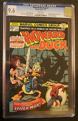 HOWARD THE DUCK 1 Spider-Man 1976 Guardians Galaxy BRUNNER Low Print CGC NM+ 9.6