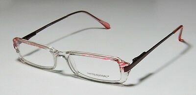 4da59e848bf7 New Limited Editions Linsey 48-15-130 Flexible Hinges Clear/burgundy  Eyeglasses!