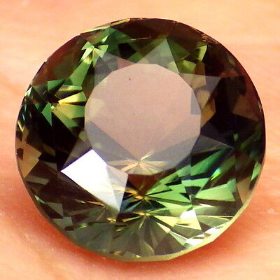 "CHROME GREEN-RED-ORANGE ""MYSTIQUE"" OREGON SUNSTONE 3.65CtFLAWLESS-TOP INVESTMENT"