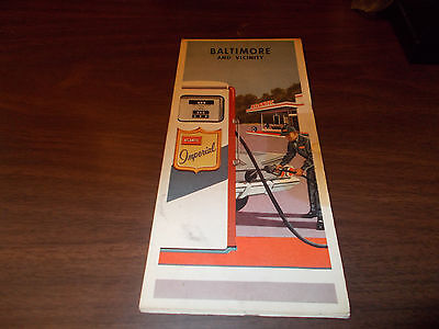 1960s Atlantic Baltimore Vintage Road Map