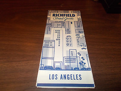1954 Richfield Los Angeles Vintage Road Map