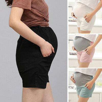 New Women Maternity Shorts Casual Over Bump Hot Pants Pregnancy Short Trousers