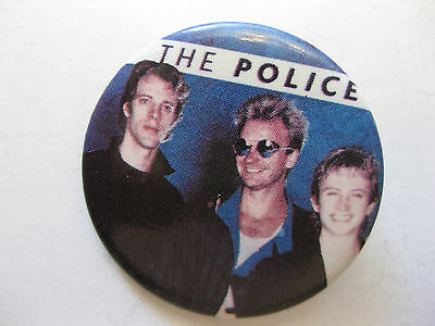 Rare Vintage The Police  Button Pin Condition New