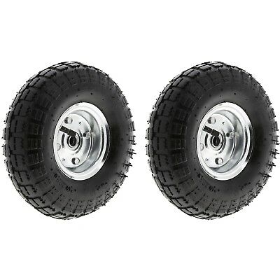 "2 x 10"" Pneumatic Sack Truck Wheelbarrow Tyres Trolley Wheel Cart Tyre Wheels"