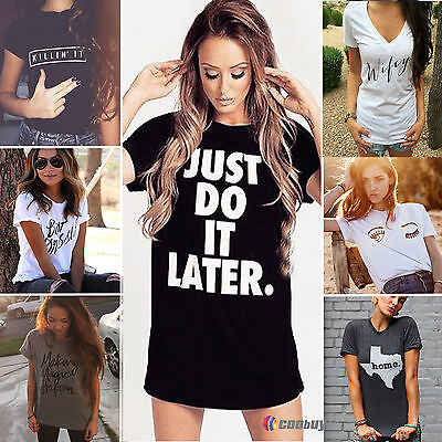 2016 Fashion Printed Womens Summer Tops Loose Tee Short Sleeve T shirt Blouse
