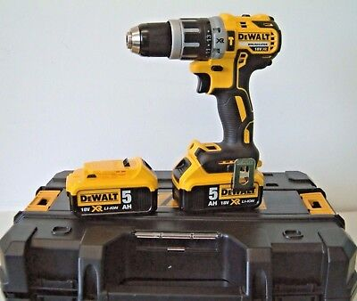 DEWALT DCD796P2 18V XR G2 Brushless Combi Drill 2x5Ah Batteries in T-Stak NEW