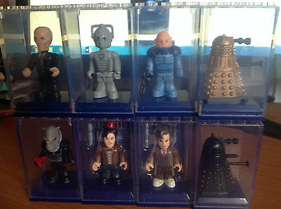 DOCTOR WHO CHARACTER BUILDING MICRO FIGURE x 8 inc Black & Gold Dalek