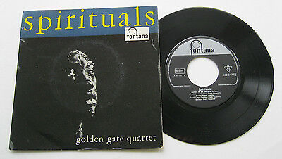 "7"" Golden Gate Quartet - Spirituals - VG++ Fontana 462047 Shadrack"