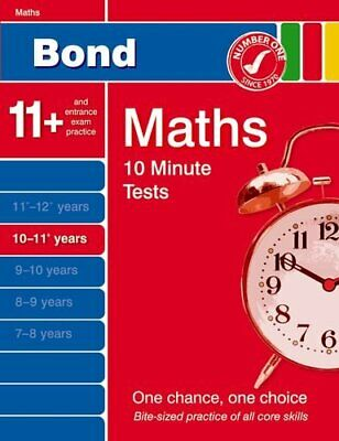Bond 10 Minute Tests 10 - 11+ years Maths by Baines, Andrew Paperback Book The