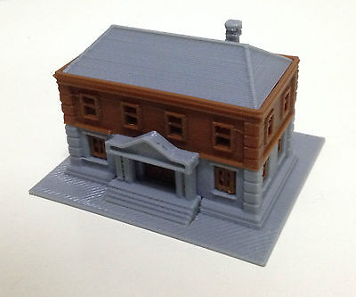 Outland Models Railroad City Government Department Police Station Z Gauge 1:220