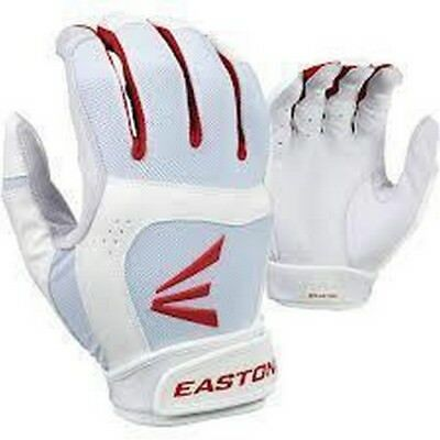 1 Pair Stealth Core Easton Fastpitch Women's X-Large White / Red Batting Gloves