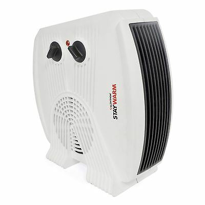 Lloytron Electric Staywarm 3kw 3000W Thermostat Upright & Flatbed Fan Heater New