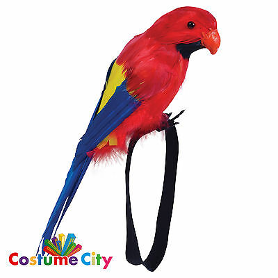 Adults Feather Wrist Parrot Pirate Buccaneer Fancy Dress Costume Accessory