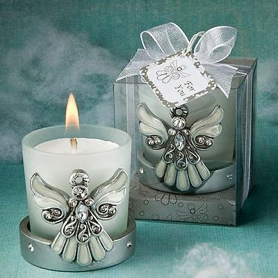 6 X Regal Angel Themed Candle Holder Baptisms Christenings Confirmation Favours
