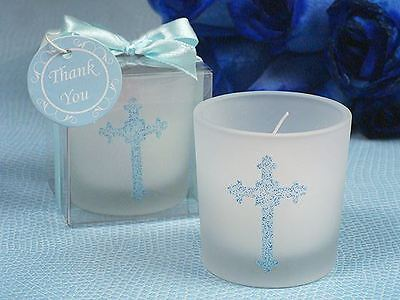 6 X Blessed Events Cross Candle Holder Baptism Christening Confirmation Favours
