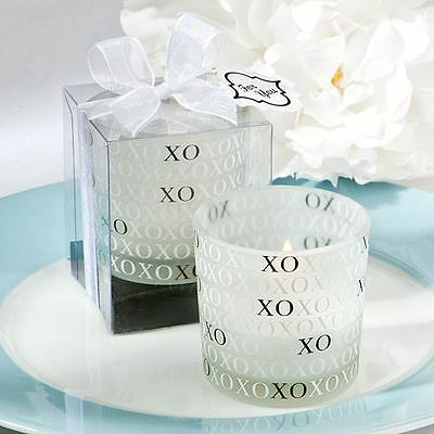 Set of 6 XO Candle Holder Wedding & Party Favors