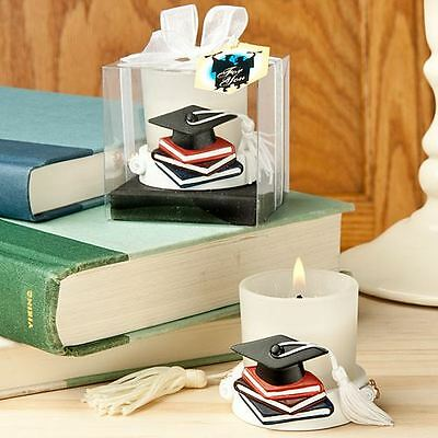 Set of 6 Graduation Themed Candle Holder Wedding & Party Favors