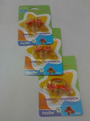BABY Elmo Sesame Street Lot Of 3 Pacifiers  NIP NEW Great Gift