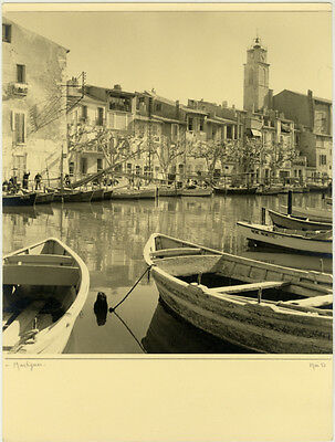 Photo Argentique Martigues Provence 1951