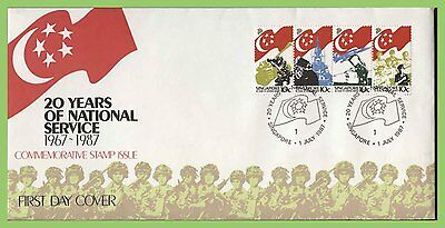 Singapore 1987 20 Years of National Service set on First Day Cover