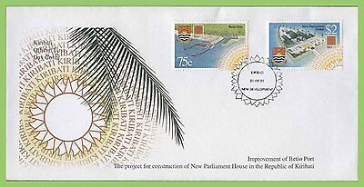 Kiribati 2001 New Parliament Building set on First Day Cover