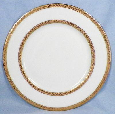 Royal Bayreuth Luncheon Plate Gold Encrusted Leaves White Porcelain Bavaria