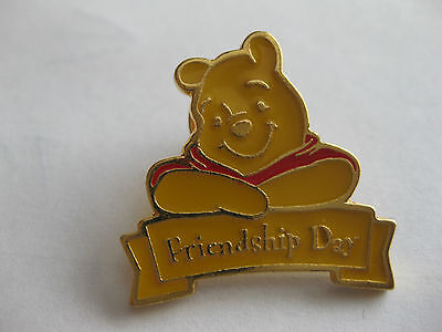 Winnie The Poo  Friendship Day Pin Back