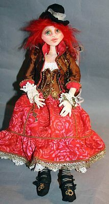 """*new* Cloth Art Doll (E-Pattern) """"ms. Maddie Hatter Goes Steampunk"""""""