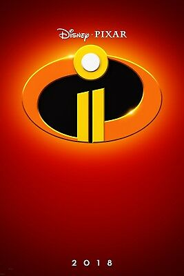 """Disney's Pixar INCREDIBLES 2 2018 Advance Teaser DS 2 Sided 27x40"""" Movie Poster"""