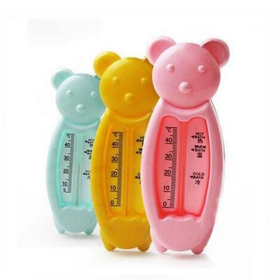 Lovely Floating Bear Bath Tub Water Sensor Thermometer Plastic Float Toy Baby CB