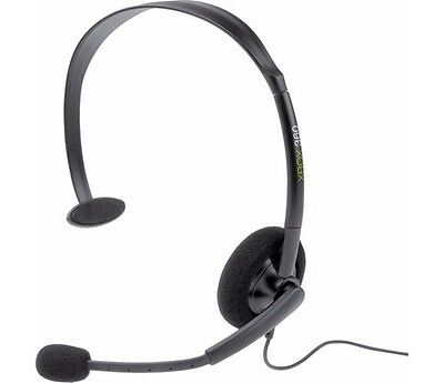 Official Microsoft Xbox Live Black Chat Headset for XBOX 360 * NEW