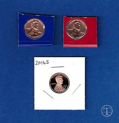 2016 P D and S Lincoln Cent Penny Set-P and D BU from Mint Set-IN STOCK