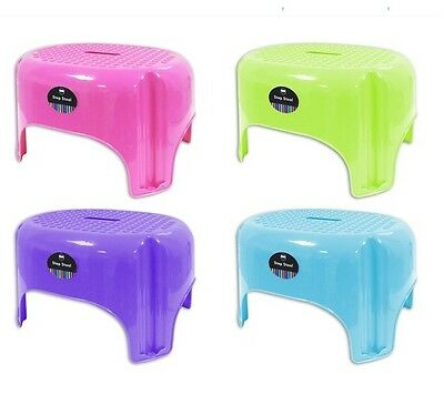 blue Large Bright Coloured Plastic Step Stool Holds 85KG - Blue