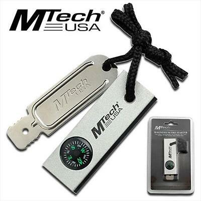 MT300 M-Tech Magnesium Fire Starter With Compass