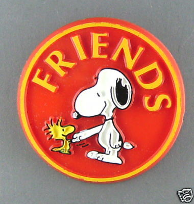 Snoopy Friends  Vintage 1980 Button Condition New