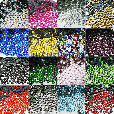 1000 Dmc Hot Fix Crystals Flat Back Iron On Rhinestone Diamante Beads With Glue