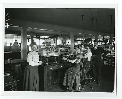 Historic Wisconsin Commerce - Vintage 8x10 Photograph - Dry Goods Store - 1908