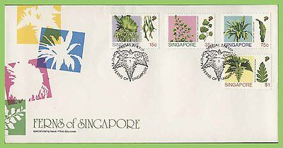 Singapore 1990 Ferns set on First Day Cover