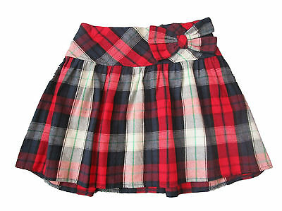 Girls Skirt Mini Skirt Pleated Baby Tartan Bow