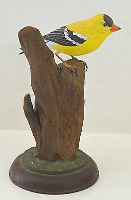 Rare Vintage Ira Frost Birdcarving – Goldfinch 1986 Rr887