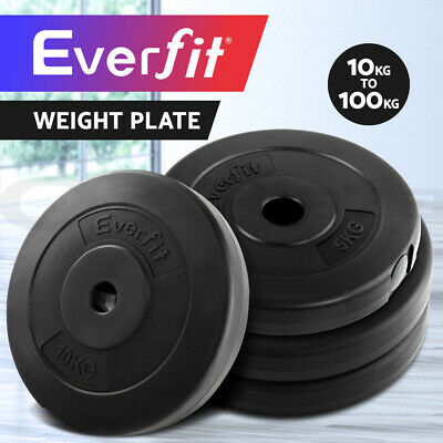 Everfit Weight Plate For Barbell Set Home Gym Press Fitness Exercise 10-100KG