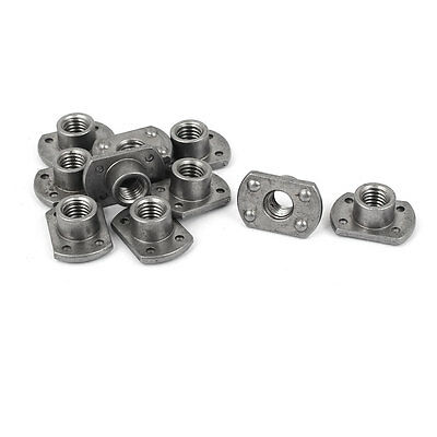 10 Pcs M8 Car Seat Belts Nut 4 Projection Metric T Type Weld Nuts T-nuts Gray