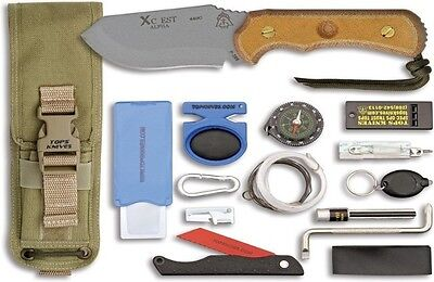 """TOPS XcEST Alpha Knife XCESTA-CT (Cross Country Emergency Support Tool). 7 3/4"""""""