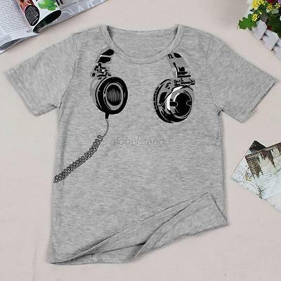 Summer Baby Kid Boys Printed T-Shirt Short Sleeve Children Tee Costume Tops 2-7Y